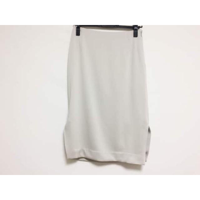 【中古】 オリバーサット ORIVAR SAT スカート サイズ36 S レディース 美品 ベージュ