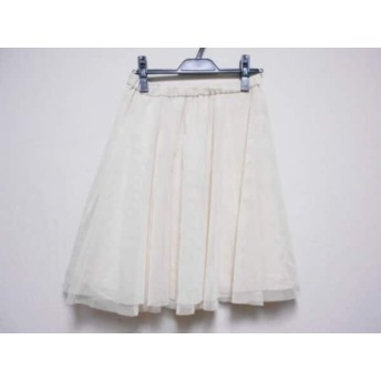 【中古】 ジャスグリッティー JUSGLITTY スカート サイズ2 M レディース アイボリー
