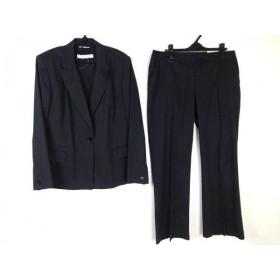 【中古】 マリナリナルディ レディースパンツスーツ レディース 黒 ピークドラペル/肩パッド
