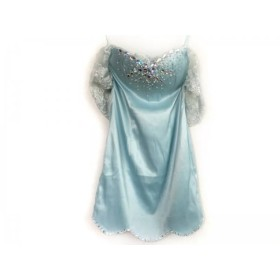 【中古】 アン an ドレス サイズS レディース 美品 ライトブルー レース/フェイクパール/ビーズ/ビジュー