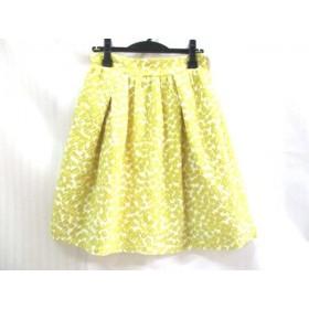 【中古】 バーニーズ BARNEYSNEWYORK スカート サイズ38 M レディース イエロー ホワイト