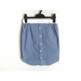 【中古】 ザ ヴァージニア The Virgnia スカート サイズ9 M レディース アイボリー ブルー ストライプ