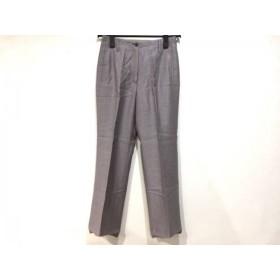 【中古】 ランバンコレクション LANVIN COLLECTION パンツ サイズ38 M レディース パープル ライトグレー