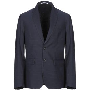 《セール開催中》AGLINI メンズ テーラードジャケット ダークブルー 50 コットン 64% / 麻 36%