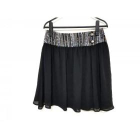 【中古】 ミュラーオブヨシオクボ muller of yoshiokubo スカート サイズ38 M レディース 黒 マルチ