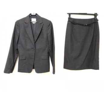 【中古】 クミキョク 組曲 KUMIKYOKU スカートスーツ サイズ2 M レディース ダークグレー 3点セット