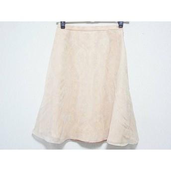 【中古】 ハロッズ HARRODS スカート サイズ2 M レディース オレンジ マルチ ペイズリー柄
