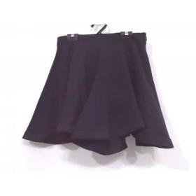【中古】 メゾンキツネ MAISON KITSUNE ミニスカート サイズ36 S レディース 黒