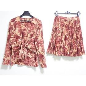 【中古】 コムサデモード COMME CA DU MODE スカートセットアップ レディース ボルドー ベージュ 花柄