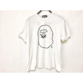 【中古】 ア ベイシング エイプ A BATHING APE 半袖Tシャツ サイズL メンズ 白 黒