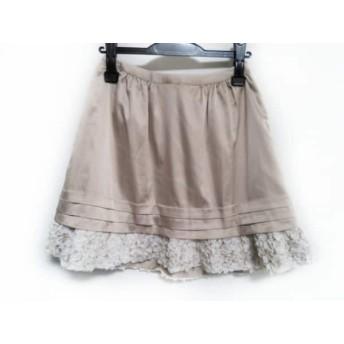 【中古】 チェスティ Chesty スカート サイズ0 XS レディース ベージュ アイボリー フリル