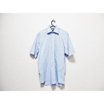 【中古】 ヒューゴボス HUGOBOSS 半袖シャツ サイズ40 M メンズ ライトブルー