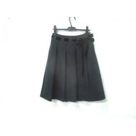 【中古】 エフデ ef-de スカート サイズ9 M レディース チャコール