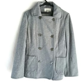 【中古】 ドレスアドレス コート サイズ11 M レディース グレー ライトグレー 春・秋物 綿ポリエステル