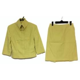 【中古】 トラサルディー TRUSSARDI スカートスーツ サイズ40 M レディース イエロー