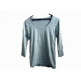 【中古】 プラステ PLS+T(PLST) 七分袖Tシャツ サイズ2 M レディース グレー