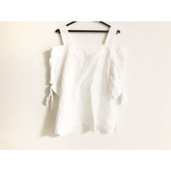 【中古】 ダブルスタンダードクロージング 半袖カットソー サイズ38 M レディース 白 リボン