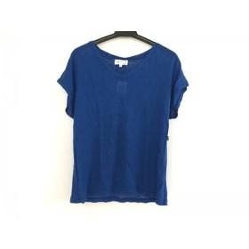 【中古】 アニエスベー agnes b 半袖カットソー レディース 美品 ブルー