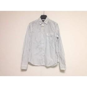 【中古】 トゥデイフル TODAYFUL 長袖シャツ サイズ38 M メンズ 白 ネイビー ストライプ