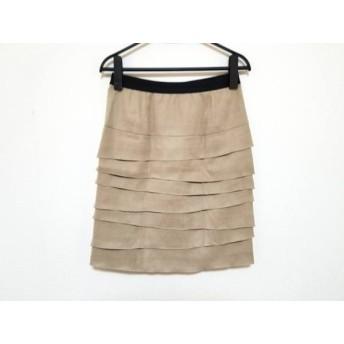 【中古】 エムズグレイシー スカート サイズ36 S レディース ベージュ フェイクスエード/ウエストゴム