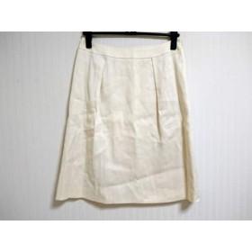 【中古】 アマカ AMACA スカート サイズ40 M レディース アイボリー ラメ/タック