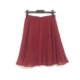 【中古】 ジャスグリッティー JUSGLITTY スカート サイズ2 M レディース ボルドー