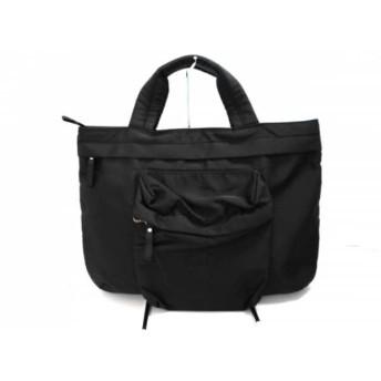 【中古】 ゴルチエ JeanPaulGAULTIER ハンドバッグ 美品 黒 ナイロン