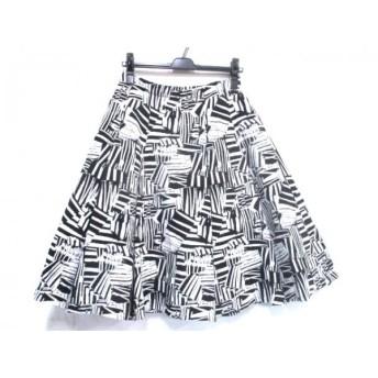 【中古】 ボッシュ BOSCH スカート サイズ38 M レディース ブラック ホワイト
