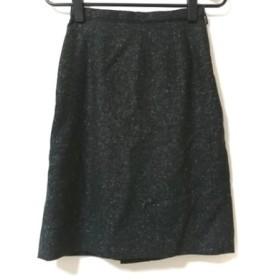 【中古】 ジャスグリッティー JUSGLITTY スカート サイズ0 XS レディース 黒 白 ダークグレー ツイード