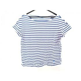 【中古】 オーシバル ORCIVAL 半袖Tシャツ サイズF F レディース 白 ブルー ボーダー