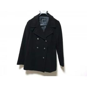【中古】 インディビ INDIVI Pコート サイズ38 M レディース 黒 冬物