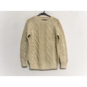 【中古】 バン VAN 長袖セーター サイズM メンズ アイボリー