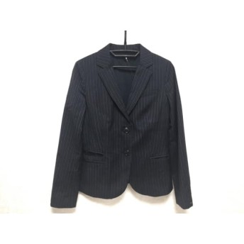 【中古】 トミーヒルフィガー ジャケット サイズS レディース 美品 ダークネイビー グレー