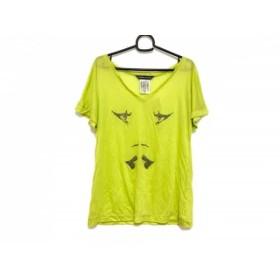 【中古】 トーマスワイルド THOMAS WYLDE 半袖Tシャツ サイズS レディース ライトグリーン ラインストーン