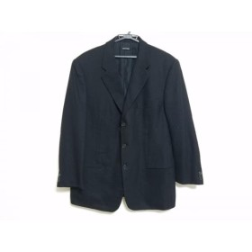 【中古】 ジョルジオアルマーニ GIORGIOARMANI ジャケット サイズ52 L メンズ 黒