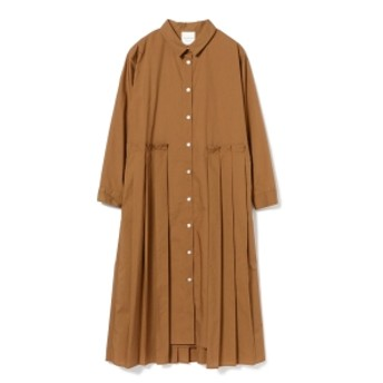Ray BEAMS / プリーツ キリカエ シャツワンピース レディース ワンピース BROWN ONE SIZE