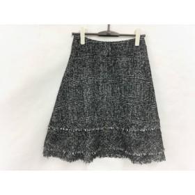 【中古】 トゥービーシック TO BE CHIC スカート サイズ38 M レディース 白 黒