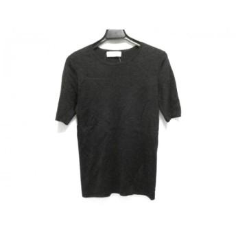 【中古】 バレンシアガ BALENCIAGA 半袖セーター サイズ36 S レディース 黒 シルク