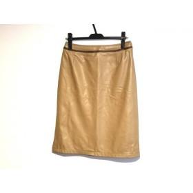 【中古】 ジユウク 自由区/jiyuku スカート サイズ40 M レディース ベージュ ダークブラウン