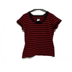 【中古】 アニエスベー agnes b 半袖Tシャツ サイズ3 L レディース レッド 黒 ボーダー