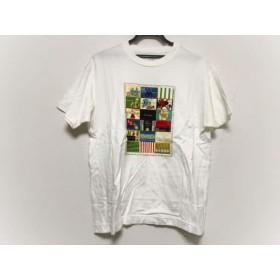 【中古】 カールヘルム KarlHelmut 半袖Tシャツ サイズM メンズ 美品 白 アイボリー マルチ