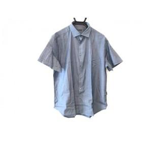 【中古】コルネリアーニ CORNELIANI 半袖シャツ サイズ18 1/246 メンズ ネイビー