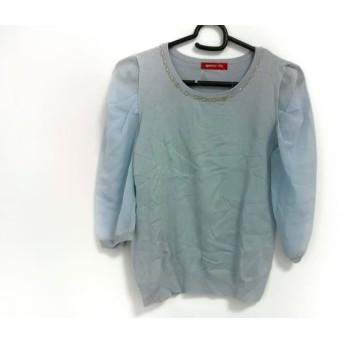 【中古】 アプワイザーリッシェ Apuweiser-riche 七分袖セーター サイズ2 M レディース ライトブルー