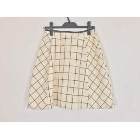 【中古】 ルビーリベット Rubyrivet スカート サイズ38 M レディース アイボリー 黒