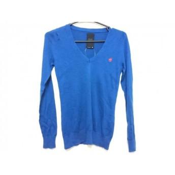 【中古】 ジースターロゥ G-STAR RAW 長袖セーター レディース 美品 ブルー CORRECTLINE/カシミヤ混