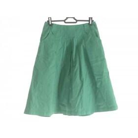 【中古】 ホコモモラ JOCOMOMOLA スカート サイズ42 L レディース グリーン