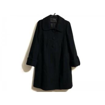 【中古】 レストローズ L'EST ROSE コート サイズ2 M レディース 黒 冬物
