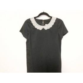 【中古】 ケイトスペード Kate spade ワンピース サイズ2 S レディース 美品 黒 白 ビーズ刺繍