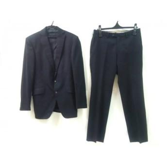 【中古】 パーソンズ PERSON'S シングルスーツ メンズ 黒 ストライプ