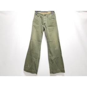 【中古】 キャピタル KAPITAL パンツ サイズ0 XS レディース カーキ 白